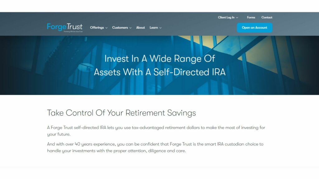 What is IRA Services Trust Company?